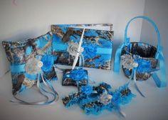 Blue Camo Wedding Set