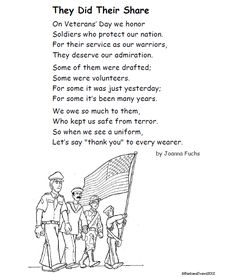 Itsabouttimeteachers: A Poem for Veterans' Day It's about time for Veterans' Day, teachers! That means it's about time for a poem. And, of course, some activities to go with it. Veterans Day Activities, Holiday Activities, Classroom Activities, Kindergarten Worksheets, Kindergarten Science, Educational Activities, Classroom Ideas, Veterans Memorial Day, Veterans Day Quotes