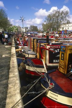 England, London. Canal Barge Festival in Little Venice, North London.