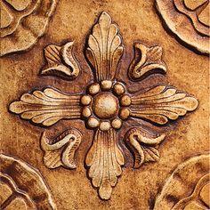 "Estrella, Color: Burnt Umber, 8X8"" Decorative Tile"