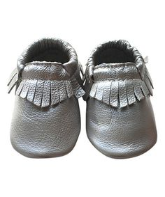 Forgotten Princess Silver Fringe Leather Bootie | zulily