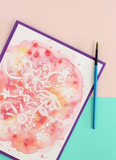 This simple rubber cement resist technique is a fun way to make easy watercolor art. It's simple, fun, and gives great results.