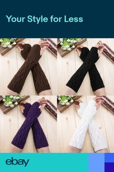 Sporting Fashion Women Winter Wrist Arm Warmer Knitted Long Fingerless Gloves Mittens High Quality Thermal Protective Arm Warmers Gloves Convenience Goods Apparel Accessories