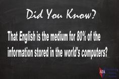 TESOL ESL [ English Facts ] 80% Information Stored