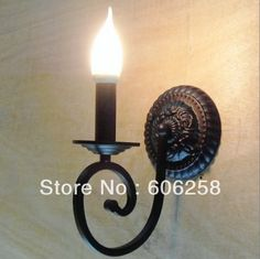 European-style Wall Lamp Bedroom Bedside Lamp Lighting Candles E14 LED 4W Light #Affiliate