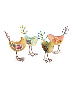 Another great find on #zulily! Bird Figure Set #zulilyfinds