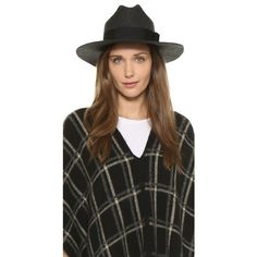 Brixton Tara Fedora Hat ($46) ❤ liked on Polyvore featuring accessories, hats, heather black, floppy fedora, floppy hat, black floppy hat, fedora hat and brixton hats