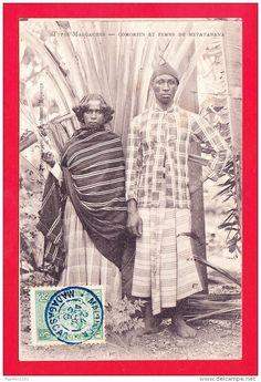 E-Madagascar-95A77  types malgaches, Comorien et femme de Mevatanana, cpa BE