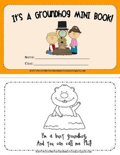 FREE!! It's A Groundhog Day Mini Book.
