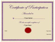 education certificates certificate of participation certificatestreetcom