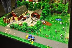 Final version of my Farm lay out for Legoworld Zwolle 2012