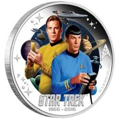 Star Trek: The Original Series Captain James T. Kirk and Spock Silver Proof Coin Scotty Star Trek, Star Trek 50th Anniversary, Star Trek Logo, James T Kirk, Star Trek 1966, Star Trek Captains, Star Trek Collectibles, Star Trek Characters, Star Trek Original