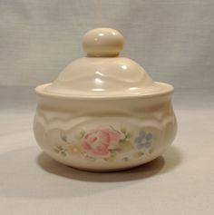 Vintage Pfaltzgraff TEA ROSE Sugar Bowl with Lid Stoneware #pfaltzgraff