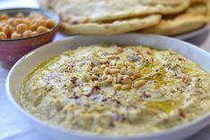 A traditional recipe for Laffa flat-bread (or Taboon) and Hummus: A favourite of the eastern Mediterranean.