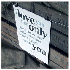 A3 typographic paper print £15 #love #art