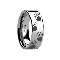 Bear Paw Ring in Tungsten | CamoEverAfter.com