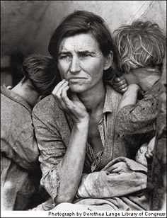 The Depression & The Dust Bowl - A working woman who just sold her tires to feed her children.  Photos That Changed the World-2