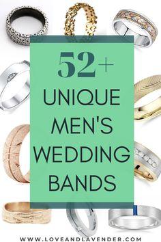 52+ Unique Men's Wedding Bands