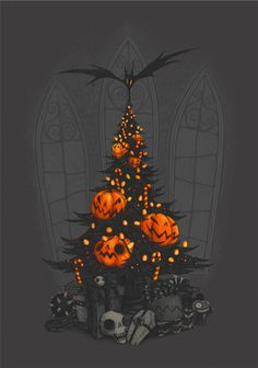by Hat Boy - I'm Dreaming of a Dark Christmas {2012}  Due to persistent public demand, this is now available as a print or a tee over at Society6. ...