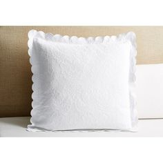 Check out this item at One Kings Lane! Victoria Matalassé Euro Sham, White
