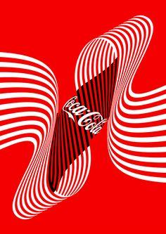 Commissioned by Coca-Cola. Ice-Cold Mash-Up Poster. Coca Cola Poster, Multimedia Artist, Principles Of Art, Motion Design, Art Inspo, Art Nouveau, Branding Design, Cold, Graphic Design