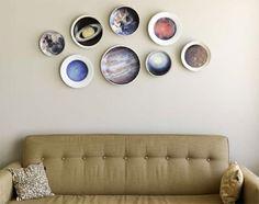 Planetary Plates via @Etsy! So much appreciation for this decor idea!