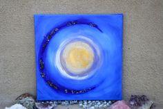 Crystal Moon Beam Original Painting by DreamTreeWonders on Etsy