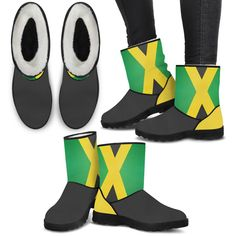 Now available on our store Jamaica Flag Faux... Check it out here!  http://hi-siena.com/products/jamaica-flag-faux-boots?utm_campaign=social_autopilot&utm_source=pin&utm_medium=pin