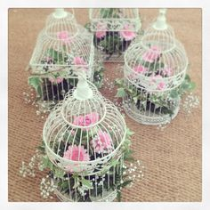 Beautiful #Vintage birdcage flower arrangements, made by BeauBabyBoutique.co.uk for a marquee #wedding reception Rose Arrangements, Beautiful Flower Arrangements, Beautiful Flowers, Wedding Centerpieces, Wedding Decorations, Marquee Decoration, Vintage Flowers, Vintage Birdcage, Bird Cage Centerpiece