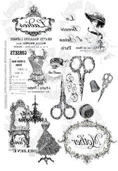 LAMINAS PARA 008 - Papeles - Materias Primas e Insumos - 496031 Printable Labels, Printable Art, Printables, Papel Vintage, Vintage Paper, Collages D'images, Etiquette Vintage, Foto Transfer, Craft Images