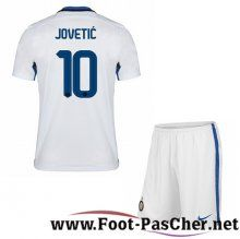 Maillot Foot Inter Milan Blanc Enfant KOVACIC 10 Exterieur 15 2016 2017 Pas Chere