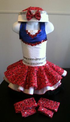 NATIONAL PAGEANT DRESS OOC PAGEANT PATRIOTIC CASUAL WEAR  3-5T