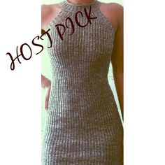 """DATE NIGHT KNIT DRESS Absolutely Stunning Fitted Knit Dress. Perfect for any occasion. Fabric has great stretch. Total length from neckline to bottom is 34"""". This dress is AMAZING!  60% Cotton; 40% Acrylic.  Runs a bit on smaller side, but because of stretch factor, will accommodate a larger size. THIS LISTING IS FOR A SMALL/MEDIUM.  TRADES PAYPAL Tea n Cup Dresses Mini"""