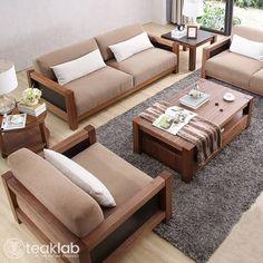 Living Room Sofa Design, Bedroom Furniture Design, Sofa Furniture, Living Rooms, Living Room Sofa Sets, Living Room Designs India, Furniture Projects, Furniture Makeover, Wooden Sofa Set Designs