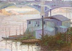 The Seine At Argenteuil Painting by Konstantinos Maleas Reproduction Greek Paintings, Most Famous Paintings, Post Impressionism, 10 Picture, Impressionist Paintings, Oil Painting Reproductions, Painters, Art Gallery, Pictures