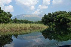 An den Unterwasserquellen des Ohridsees bei Sveti Naum