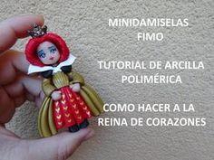 TUTORIAL DE FIMO DE COMO HACER MUÑECA ESTILO GORJUSS VESTIDO GRANATE - YouTube