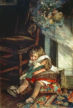 Lizzie Lawson (1867 – 1902, English)  Children Dreaming Of Toys