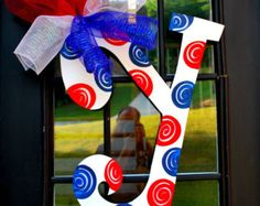 4th of July Wreath Door Hanger: 4th of July by LooLeighsCharm