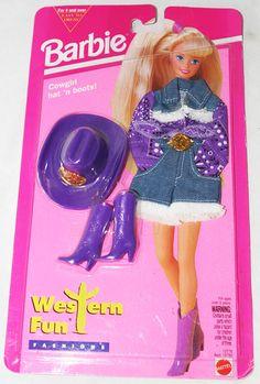 Vintage Barbie Western Fun Fashions Cowgirl Hat 'n Boots!