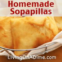 This Easy Homemade Sopapillas Recipe makes it easy to make this fried puff pastry popular in Mexican restaurants. They& especially delicious with honey! Mexican Food Recipes, Snack Recipes, Dessert Recipes, Cooking Recipes, Candy Recipes, Muffin Recipes, Recipes Dinner, Mexican Meals, Snacks