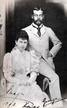 Mary and George would have still been Prince and Princess of Wales in 1893.