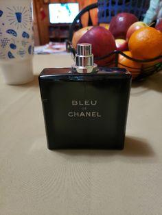 3.4 oz bleu de chanel eau de toilette......full authentic tester bottle Chanel Men, Flask, Barware, Perfume Bottles, Toilets, Eau De Toilette, Blue, Perfume Bottle, Drinkware