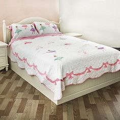 Norson Kids Bedding Girls Set Children's Bedspread Set Ballet Girl Quilt Mini Set Full / Queen (Full) * Click on the image for additional details.