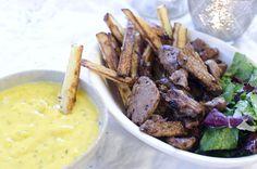 Ukemeny for uke 13 Quinoa, Tapas, Mashed Potatoes, Steak, Ethnic Recipes, Food, Pasta Soup, Whipped Potatoes, Smash Potatoes