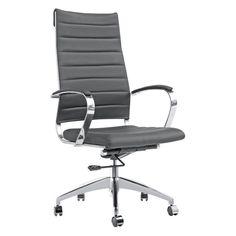 Fine Mod Imports Sopada High Back Conference Chair - FMI10078-DARK BROWN
