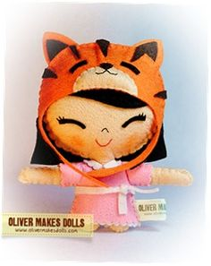 ~ cute plushie from Oliver Makes Dolls ~