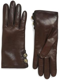 Brooks Brothers Cashmere-Lined Button Gloves