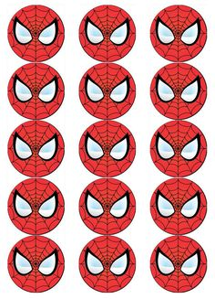 SPIDERMAN FACE V1 EDIBLE WAFER PAPER CUPCAKE POP CAKE MUFFIN TOPPERS in | eBay Spiderman Face, Spiderman Spider, Superman Birthday Party, Superhero Party, Fête Spider Man, Grandparents Day Crafts, Paper Cupcake, Wafer Paper, Man Party
