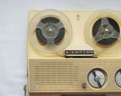 Instead of a cassette player?? portable reel-to-reel tape player 1950s